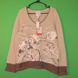 Christopher & Banks Womens XL 2010 Holiday Sweater